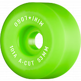 "Mini Logo Skateboard Wheels A-cut ""2"" 53mm 101A Green 4pk"