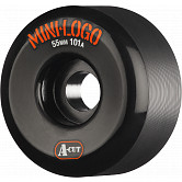 Mini Logo Skateboard Wheel A-cut 55mm 101A Black 4pk