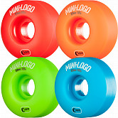 Mini Logo Skateboard Wheel C-cut 53mm 101A Assorted 4pk