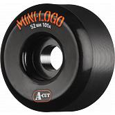 Mini Logo Skateboard Wheels A-cut 52mm 101A Black 4pk