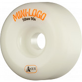 Mini Logo Skateboard Wheels A-cut 58mm 90A White 4pk