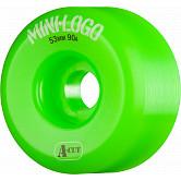 Mini Logo Skateboard Wheel A-cut 53mm 90A Green 4pk
