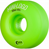 Mini Logo Skateboard Wheel C-cut 52mm 101A Green 4pk