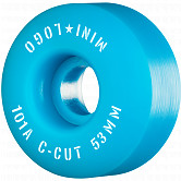 "Mini Logo Skateboard Wheels C-cut ""2"" 53mm 101A Blue 4pk"