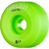 Mini Logo Skateboard Wheels A-cut 53mm 101A Green 4pk