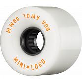 Mini Logo AWOL Skateboard Wheels 59mm 80A White 4pk