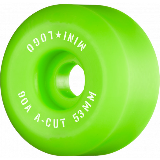 "Mini Logo Skateboard Wheels A-cut ""2"" 53mm 90A Green 4pk"