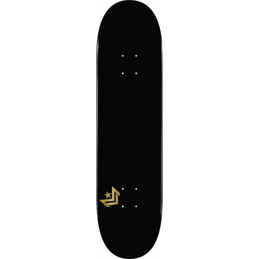Mini Logo Chevron Skateboard Deck 124 Black - 7.5 x 31.375