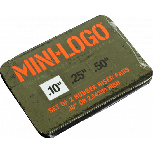 """Mini Logo .10"""" Rubber Riser (2 pack)"""