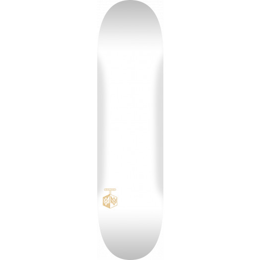 "MINI LOGO DETONATOR ""15"" SKATEBOARD DECK 242 K20 SOLID WHITE - 8 x 31.45"
