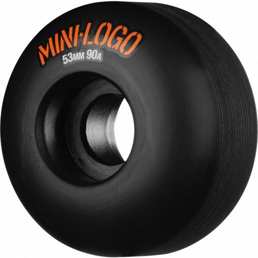 Mini Logo Hybrid Skateboard Wheels C-cut 53mm 90A Black 4pk