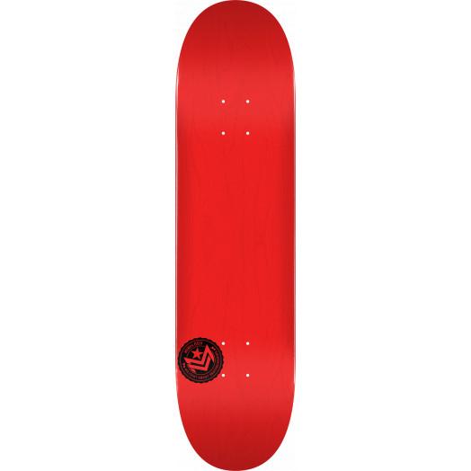 "MINI LOGO CHEVRON STAMP 2 ""13"" SKATEBOARD DECK 291 RED - 7.75 X 31.08"