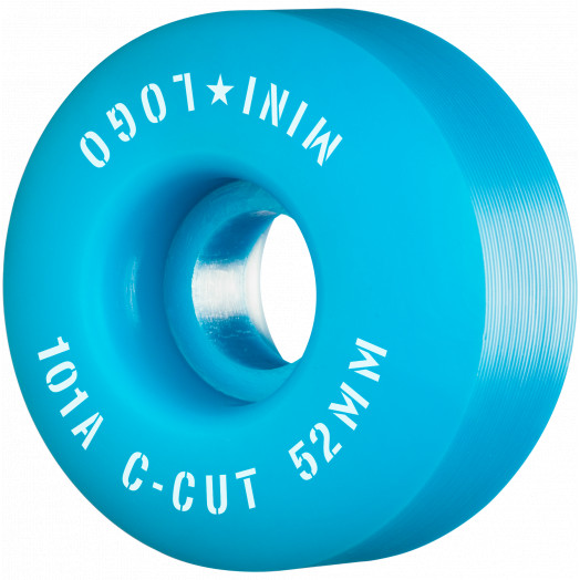 "Mini Logo Skateboard Wheels C-cut ""2"" 52mm 101A Blue 4pk"