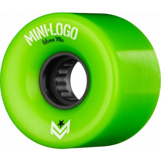 Mini Logo A.W.O.L. Skateboard Wheels A-cut Green 66mm 78A 4pk
