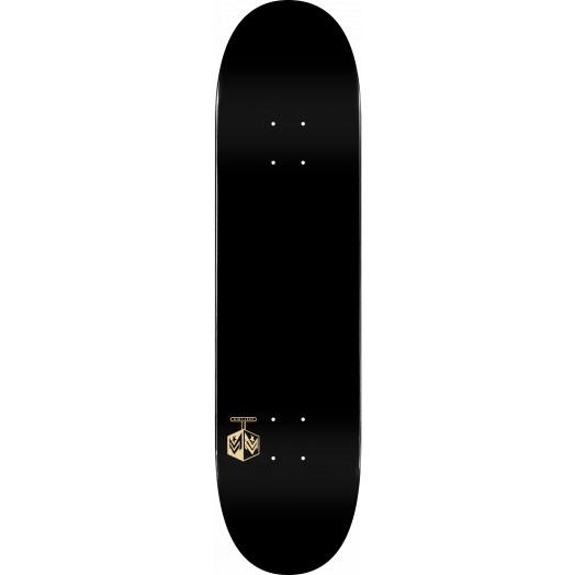 "MINI LOGO DETONATOR ""15"" SKATEBOARD DECK 291 K20 SOLID BLACK - 7.75 x 31.08"
