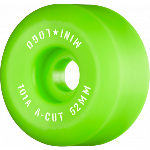 "Mini Logo Skateboard Wheels A-cut ""2"" 52mm 101A Green 4pk"