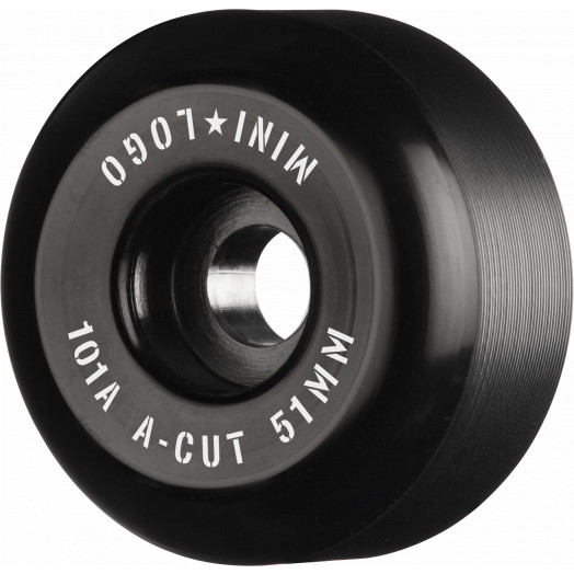 "Mini Logo Skateboard Wheels A-cut ""2"" 51mm 101A Black 4pk"