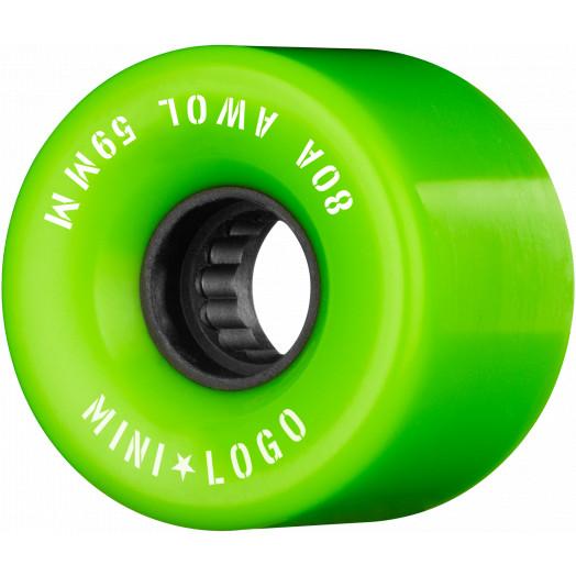 Mini Logo AWOL Skateboard Wheels 59mm 80A Green 4pk