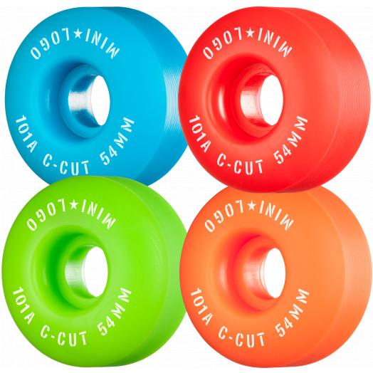 "Mini Logo Skateboard Wheels C-cut ""2"" 54mm 101A Assorted 4pk"