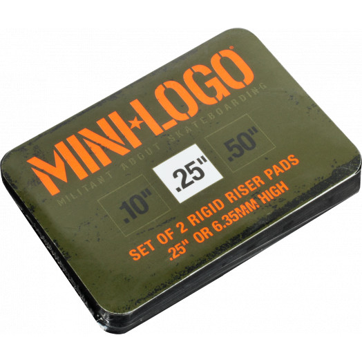"Mini Logo .25"" Rigid Riser (2 pack)"