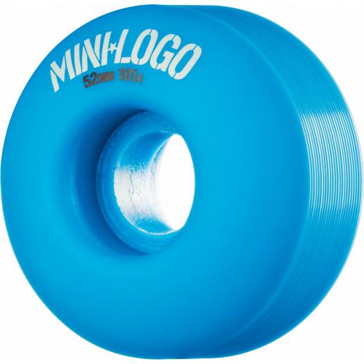 Mini Logo Wheel C-cut 52mm 101A Blue 4pk