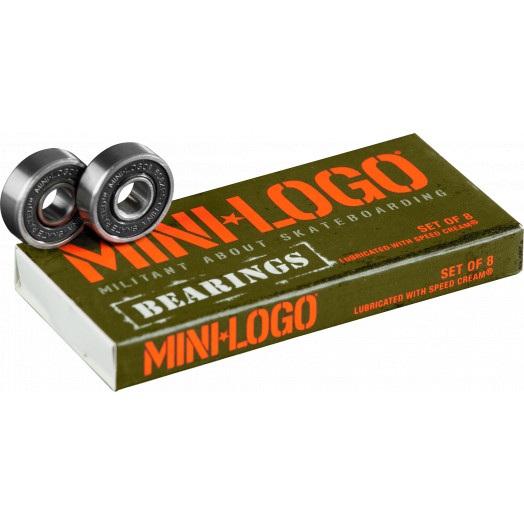 Mini Logo Skateboard Bearings Series 3 8mm Single 8pk