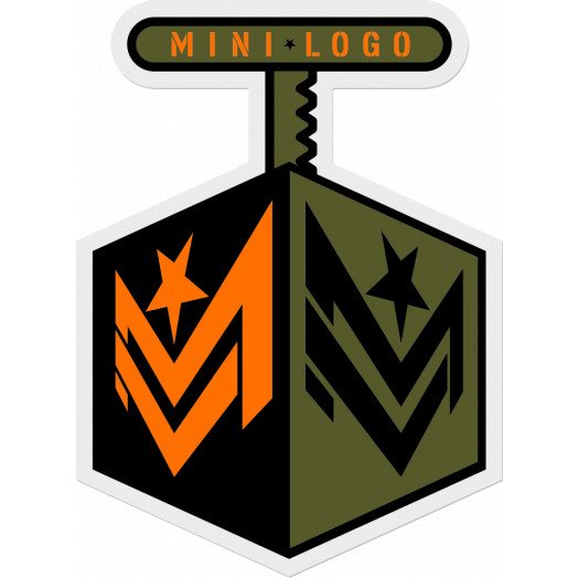 "Mini Logo Sticker ""3"" Detonator Single"