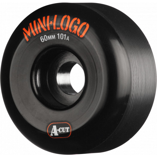 Mini Logo Skateboard Wheels A-cut 60mm 101A Black 4pk