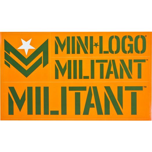 Mini Logo Miltant Single Sticker Mini Logo Skateboards