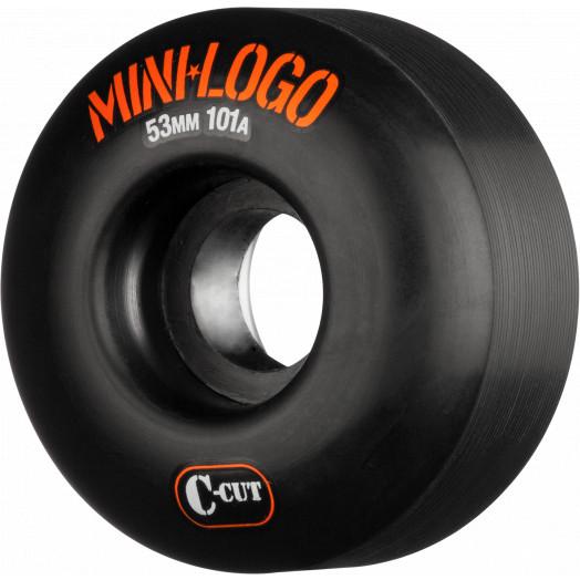 Mini Logo Skateboard Wheel C-cut 53mm 101A Black 4pk