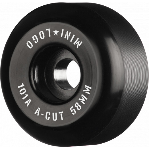 "Mini Logo Skateboard Wheels A-cut ""2"" 58mm 101A Black 4pk"