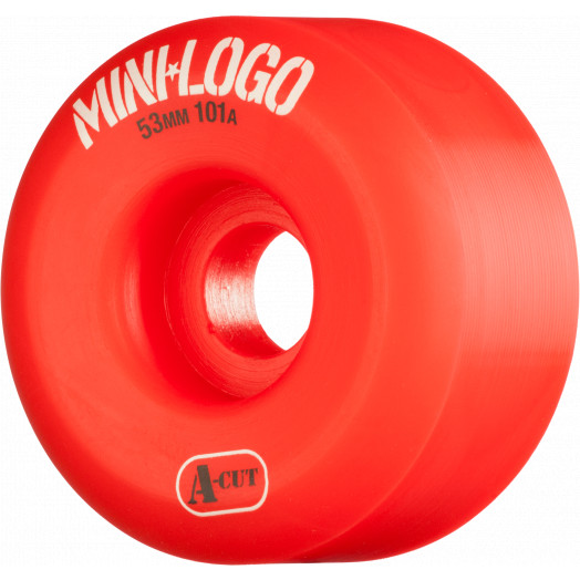 Mini Logo Skateboard Wheels A-cut 53mm 101A Red 4pk