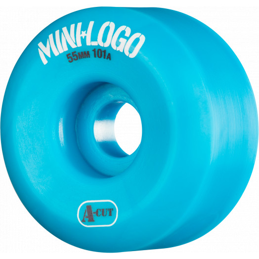 Mini Logo Skateboard Wheels A-cut 55mm 101A Blue 4pk