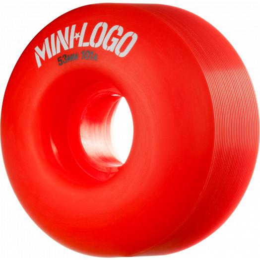 Mini Logo Wheel C-cut 53mm 101A Red 4pk