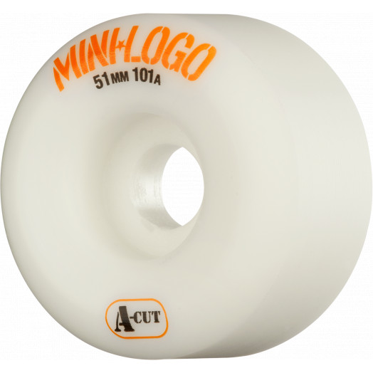 Mini Logo Skateboard Wheel A-cut 51mm 101A White 4pk