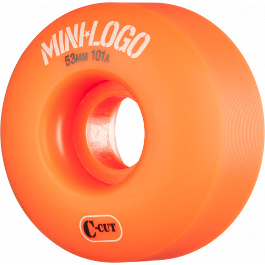 Mini Logo Skateboard Wheels C-cut 53mm 101A Orange 4pk