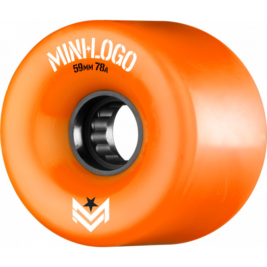 Mini Logo A.W.O.L. Skateboard Wheels A-cut Orange 59mm 78A 4pk