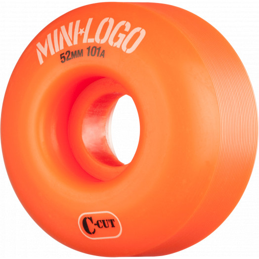 Mini Logo Skateboard Wheels C-cut 52mm 101A Orange 4pk