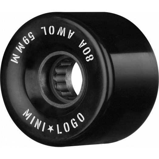 Mini Logo AWOL Skateboard Wheels 59mm 80A Black 4pk