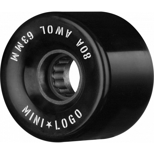 Mini Logo AWOL Skateboard Wheels 63mm 80A Black 4pk