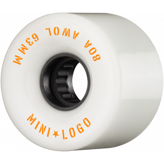 Mini Logo AWOL Skateboard Wheels 63mm 80A White 4pk