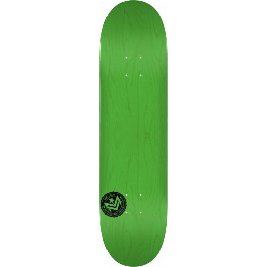 "MINI LOGO CHEVRON STAMP 2 ""13"" SKATEBOARD DECK 244 GREEN - 8.5 x 32.08"