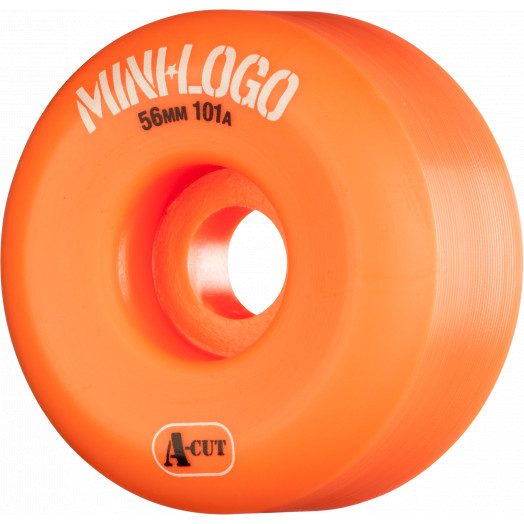Mini Logo Skateboard Wheels A-cut 56mm 101A Orange 4pk