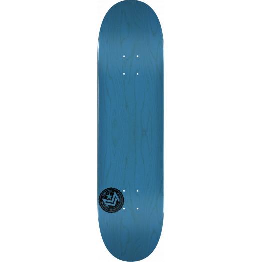 "MINI LOGO CHEVRON STAMP 2 ""13"" SKATEBOARD DECK 291 BLUE - 7.75 X 31.08"