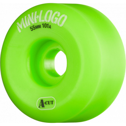 Mini Logo Skateboard Wheels A-cut 55mm 101A Green 4pk