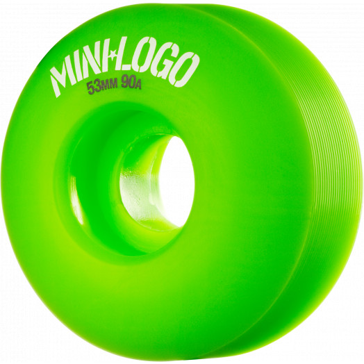 Mini Logo Wheel Hybrid C-cut 53mm 90A Green 4pk