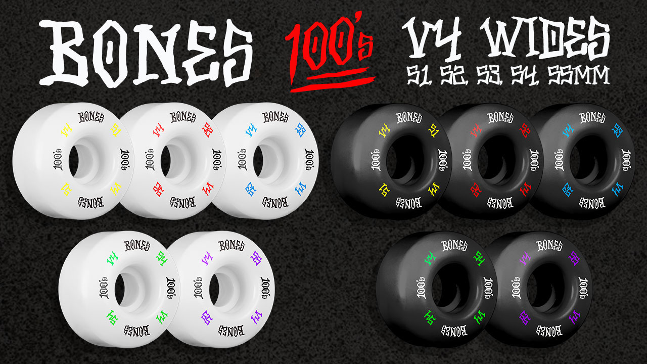 BONES Wheels 100's #12 OG Formula Skateboard Wheels