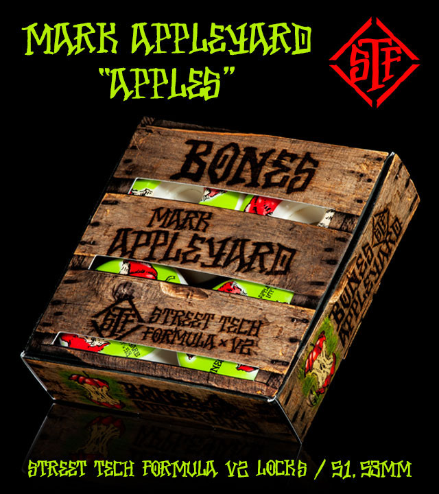 BONES Wheels STF Pro Appleyard Apple Skateboard Wheels