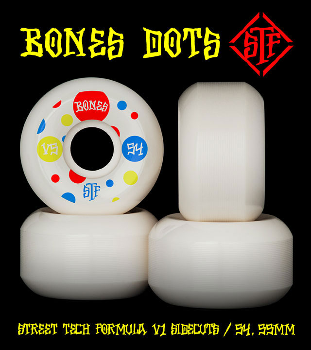 BONES Wheels STF Dots Skateboard Wheel V5