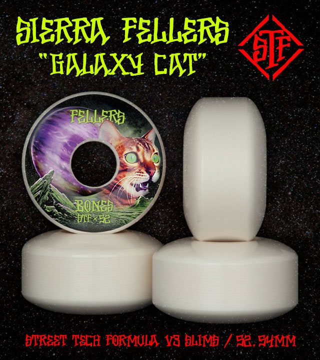 BONES Wheels STF Pro Fellers Galaxy Cat Skateboard Wheels